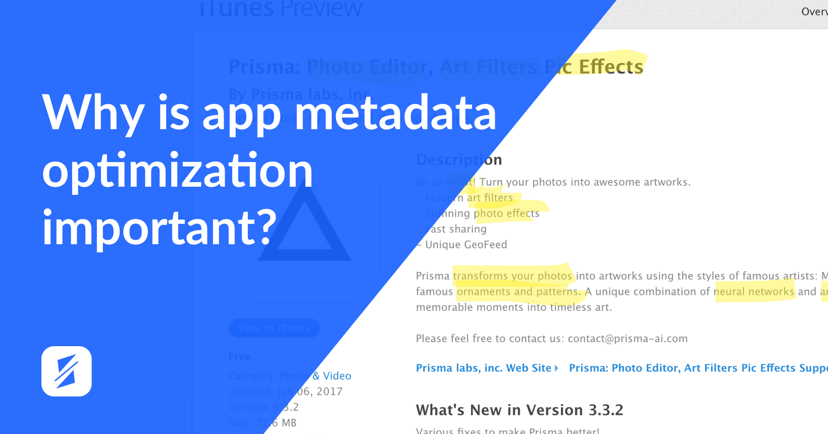 2 app metadate optimization splitmetrics