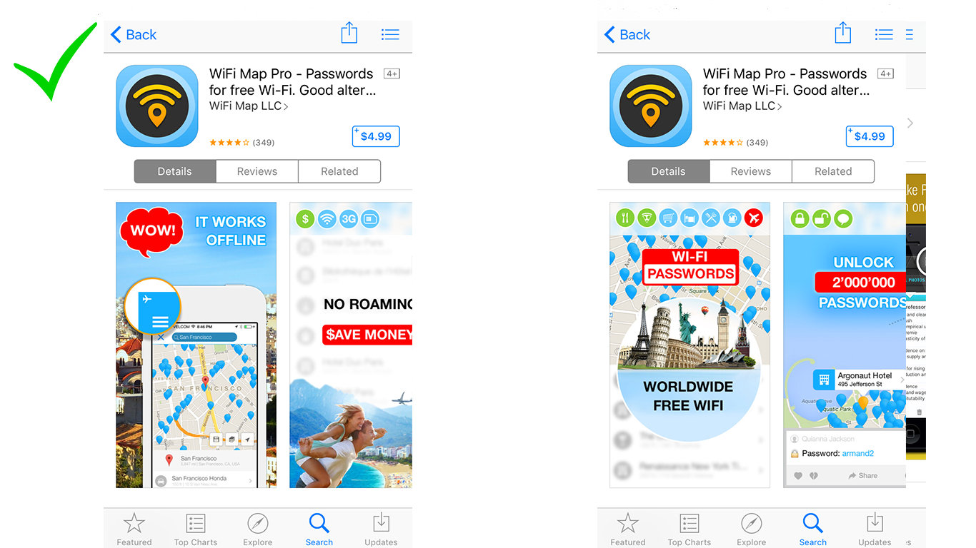 screenshot a/b testing how to design for app store conversion with badges