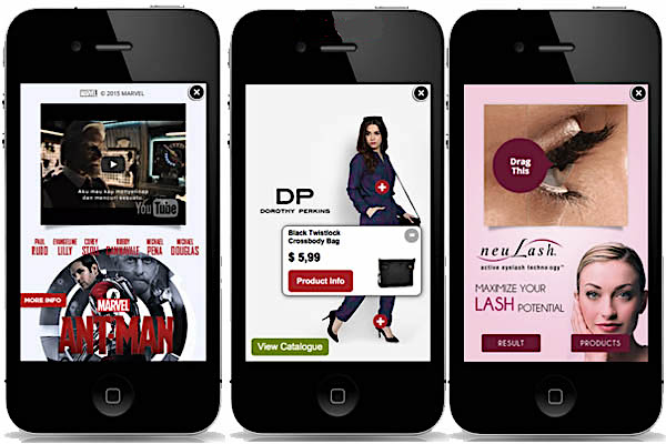 Expandable ads in mobile marketing