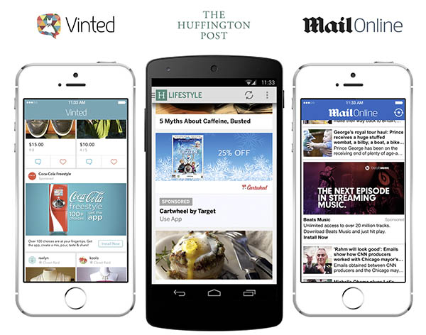 Native ads examples in mobile marketing