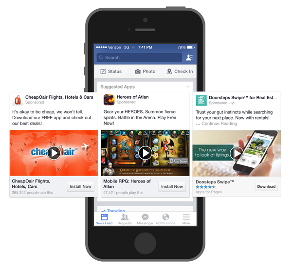 facebook ads for mobile marketing