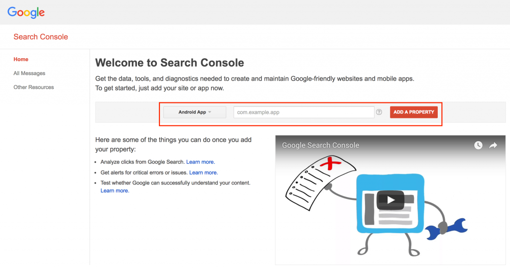 search console app pack seo for apps splitmetircs