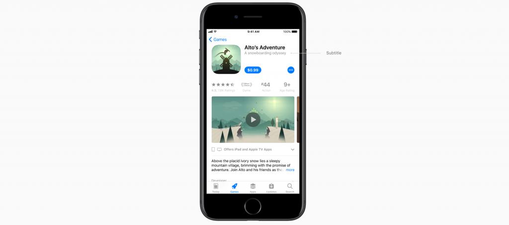 app store redesign subtitle splitmetrics
