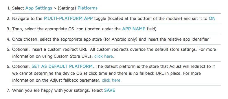 Adjust instructions for Multi-platform apps