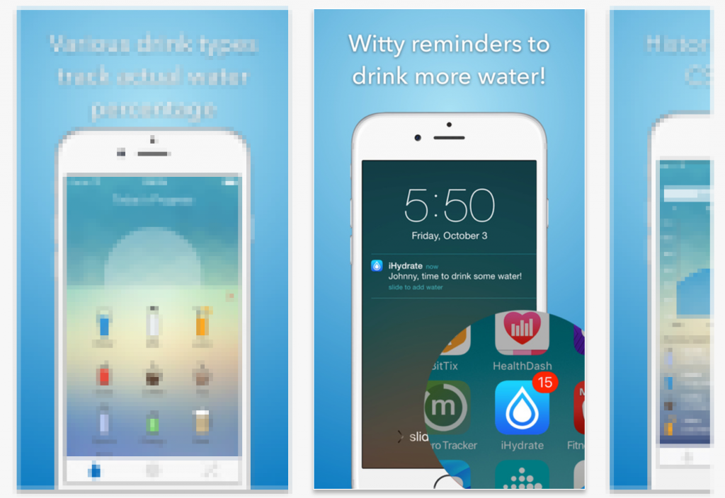 app store screenshots ihydrate splitmetrics