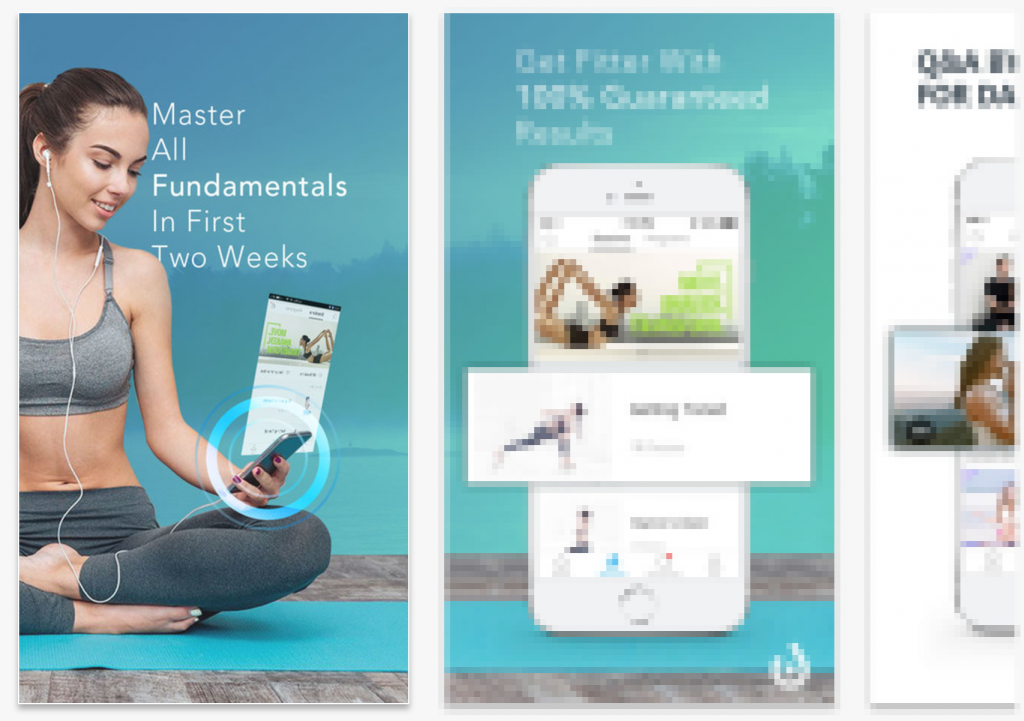 app store screenshots yoga splitmetircs