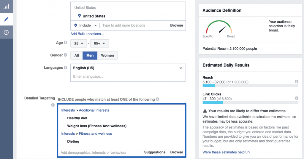 Facebook App Install Ads targeting splitmetrics 1