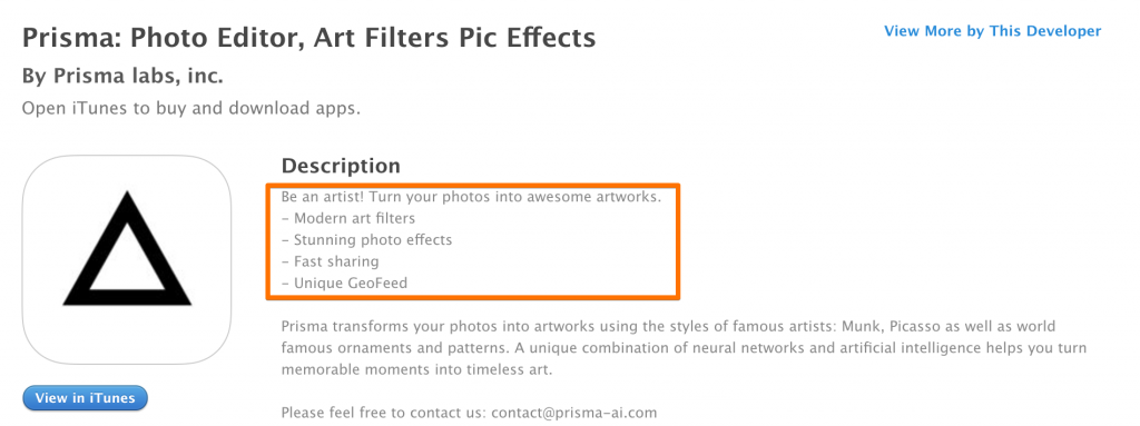 app description mobile content strategy splitmetrics