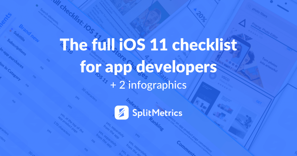 checklist ios 11 app store preview splitmetrics