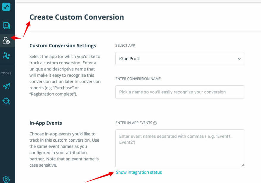 Custom Conversion for Apple Search Ads