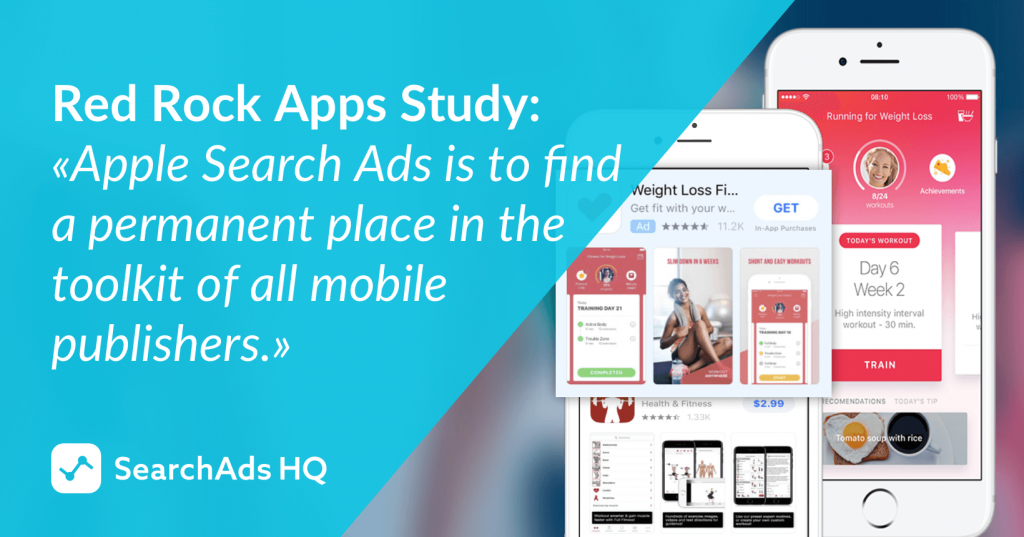 red rock apps apple search ads case study