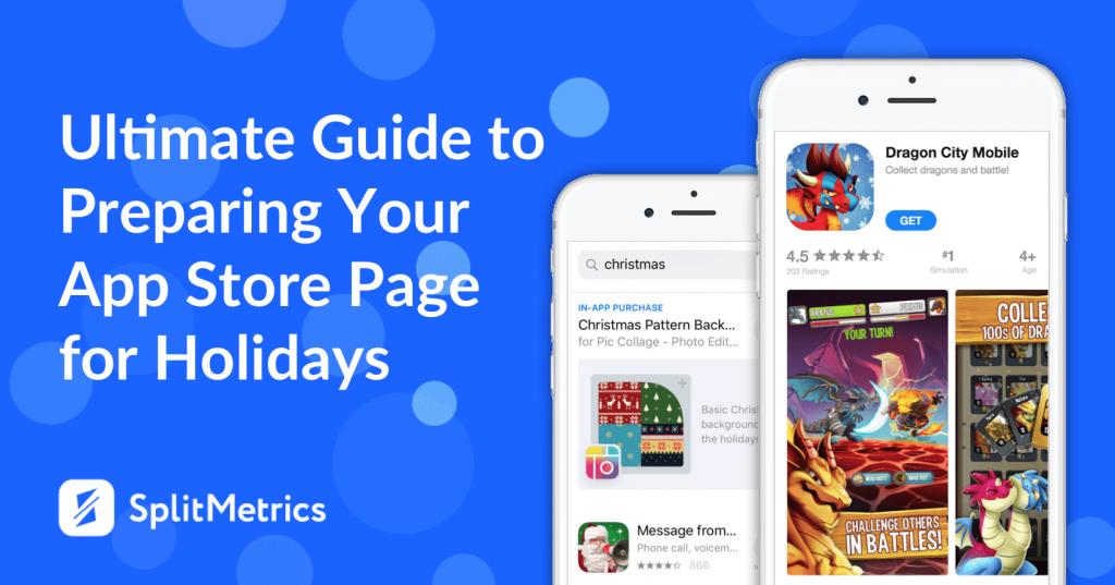 splitmetrics holiday app store page