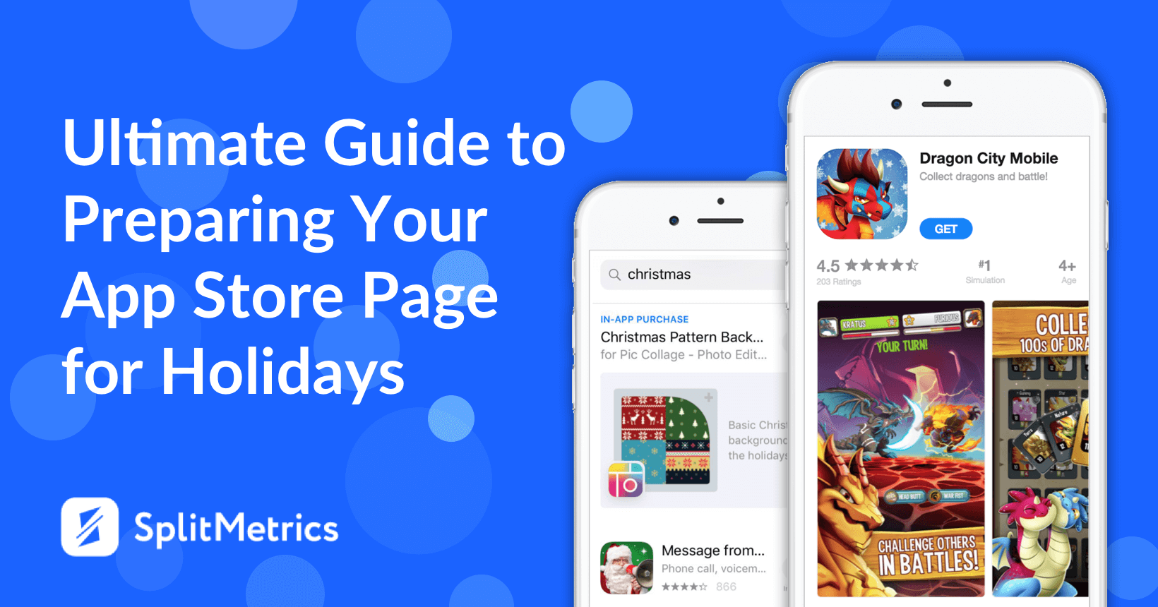 splitmetrics holiday app store page