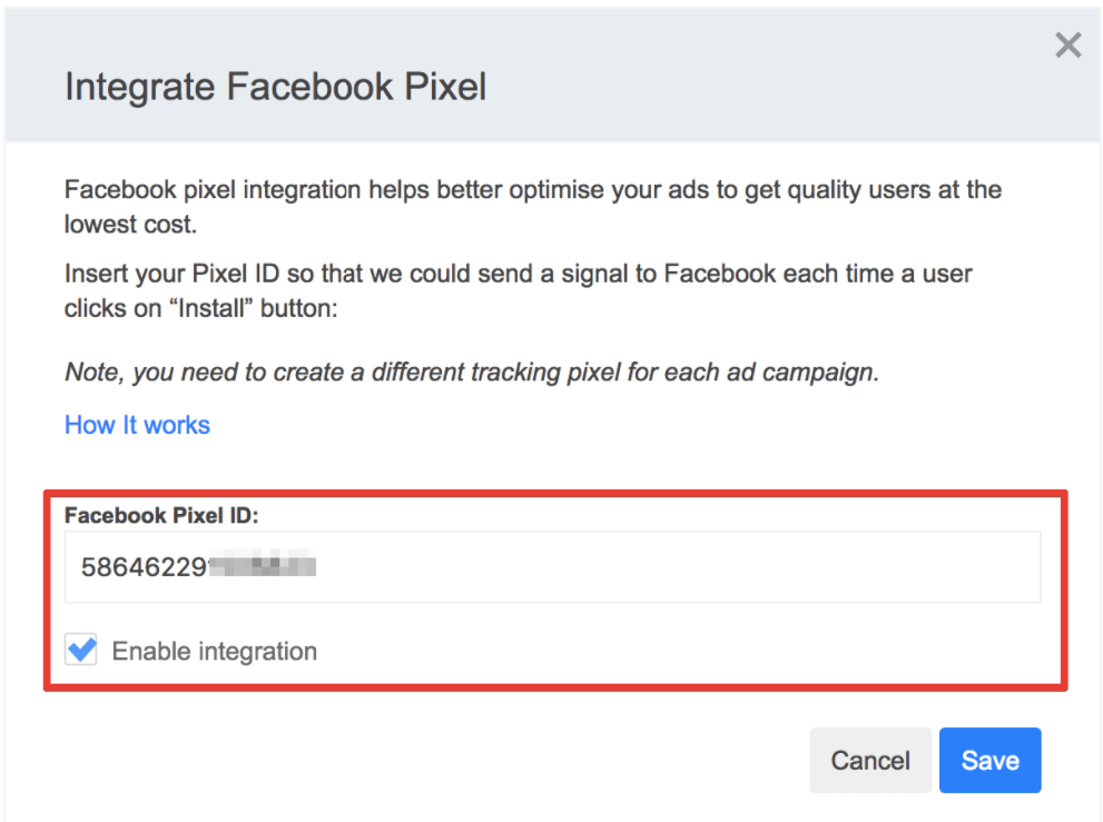 Integrating SplitMetrics with Facebook Pixel