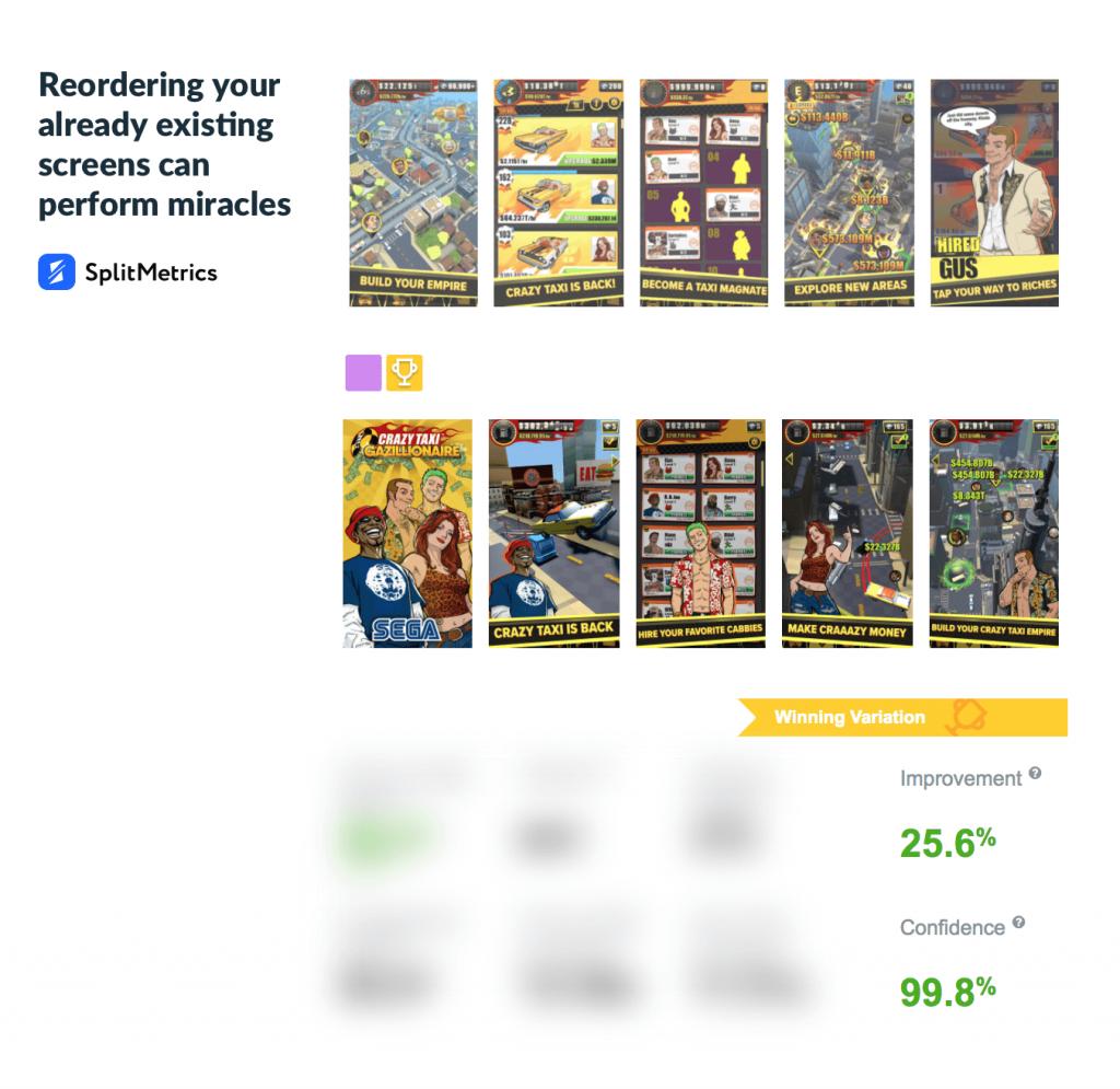 sega case study app store screenshots splitmetircs