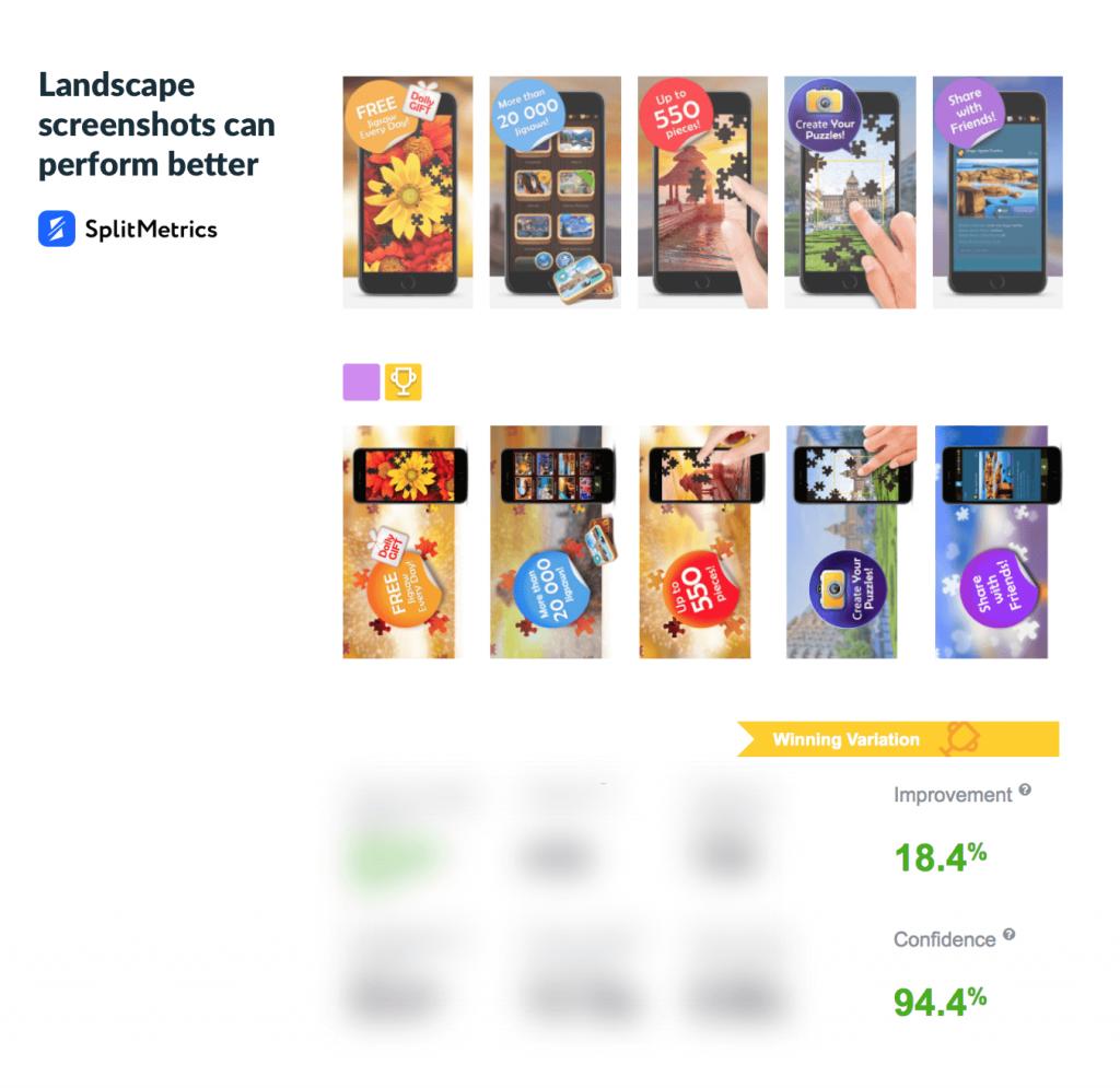zimad case study app store screenshots splitmetircs