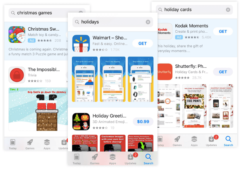 preparing app store page for holidays