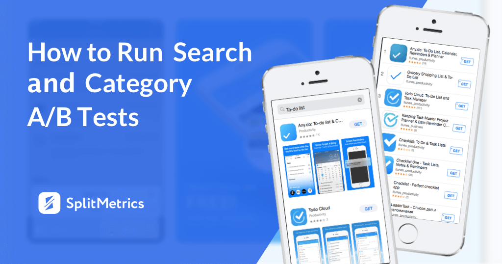 category and search A/B test
