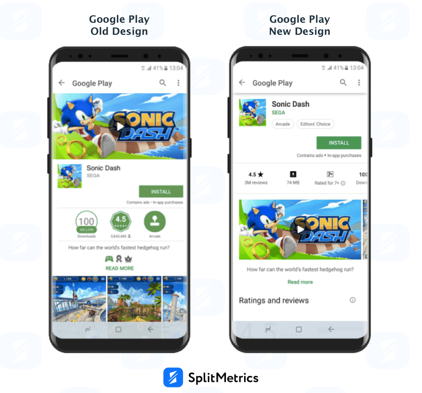 Updated Google Play Store Design