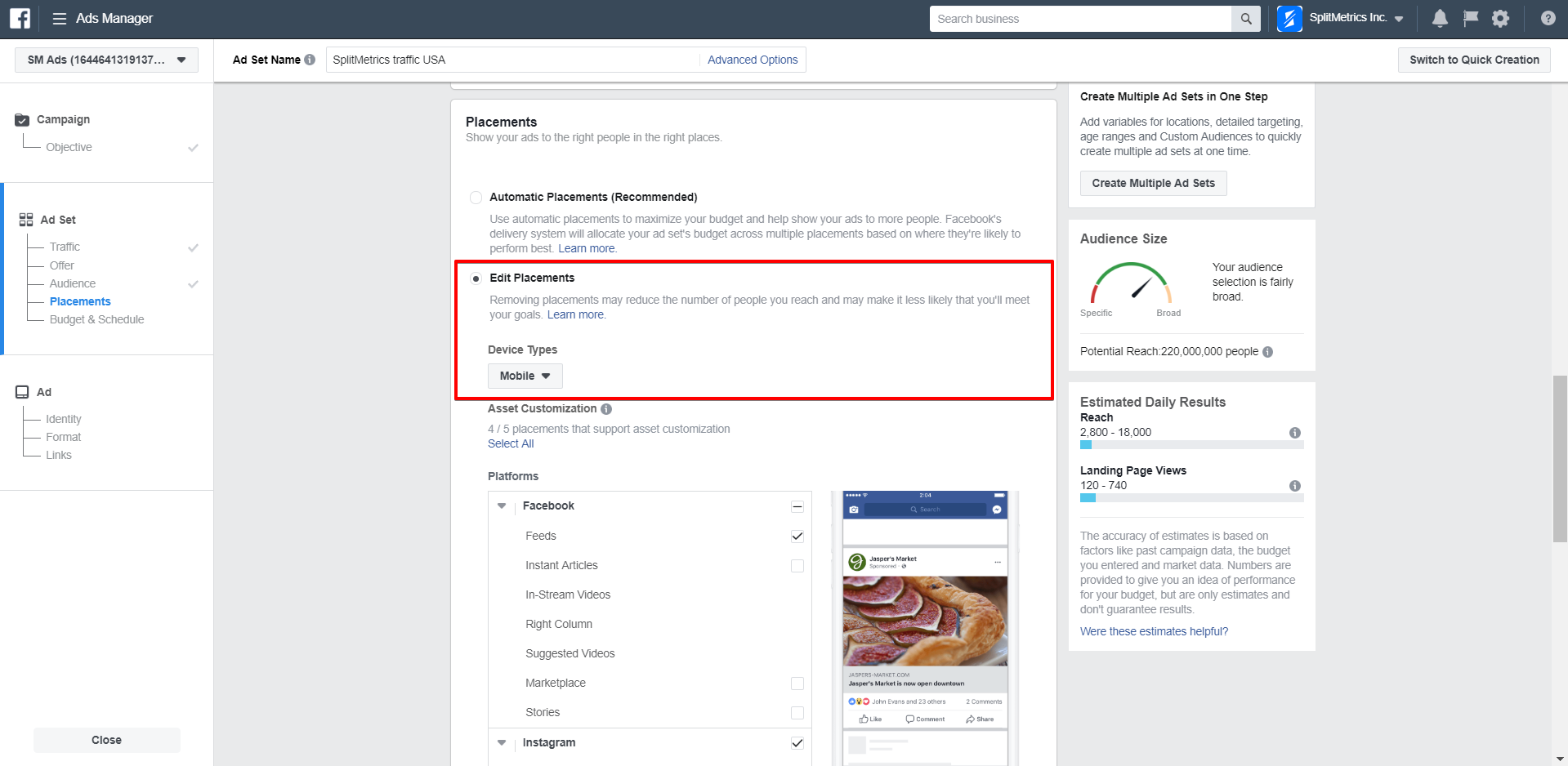 How to Set up a Campaign on Facebook to Start A/B testing