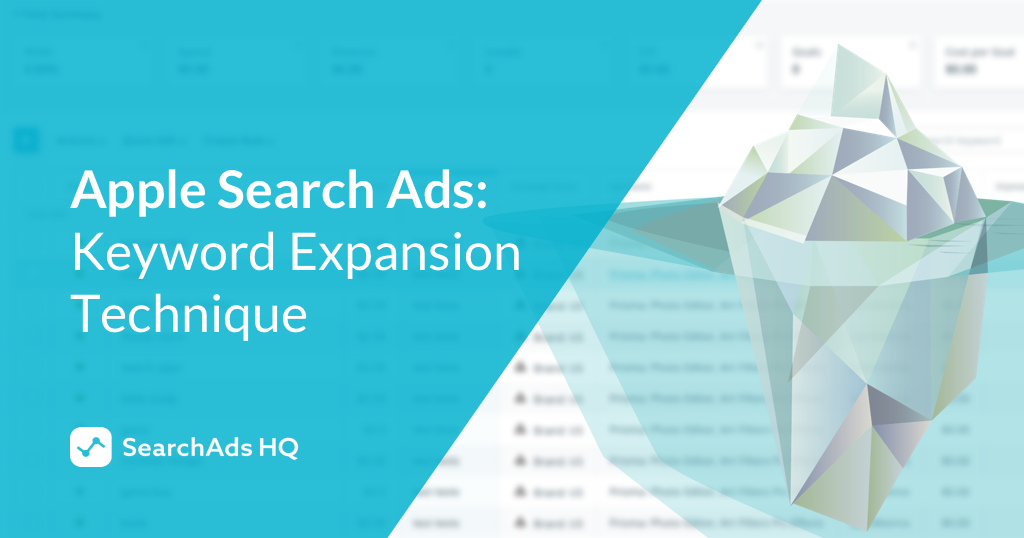 Keyword expansion method in Search Ads