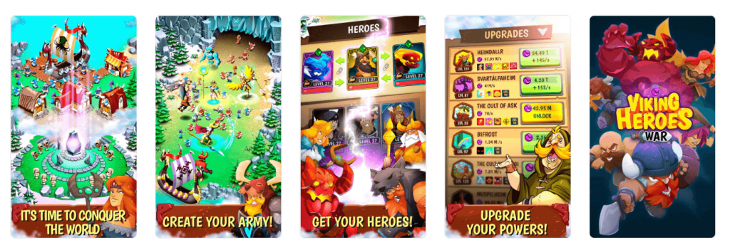 viking heroes app store screenshots