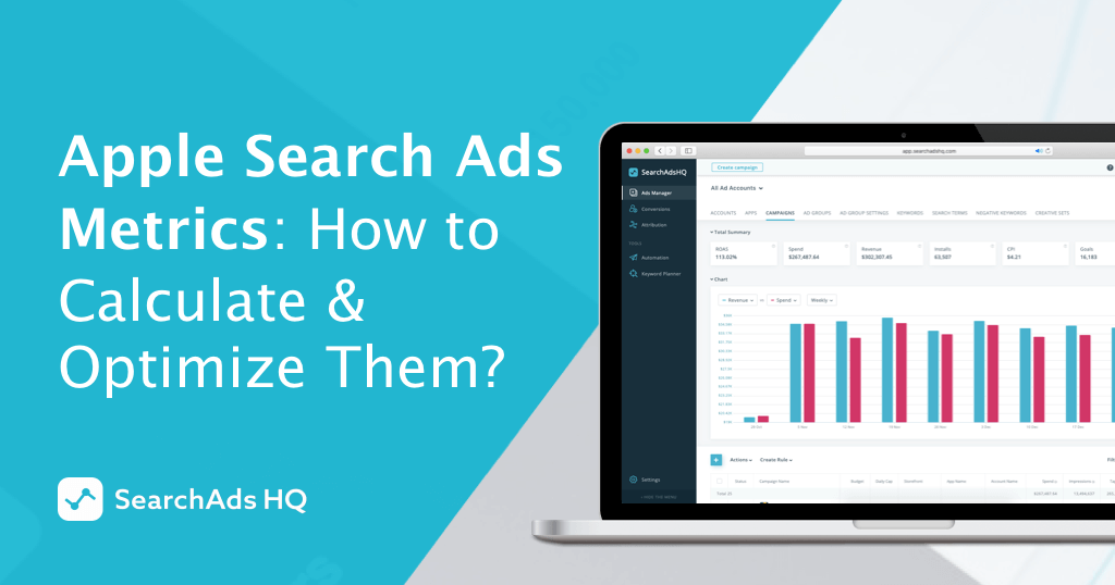 Metrics in Apple Search Ads