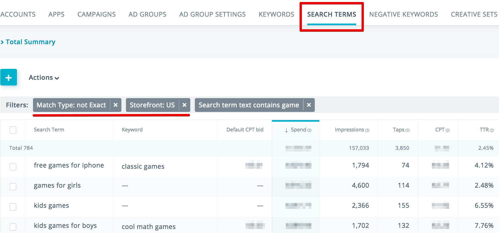 Apple Search Ads discovery campaigns performance