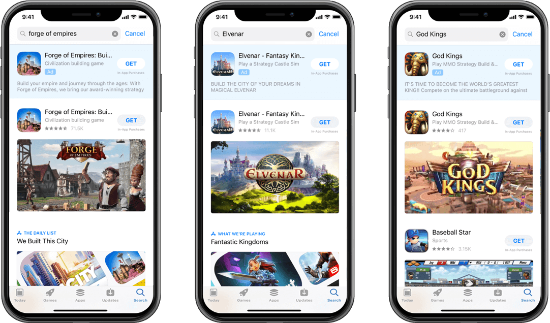 InnoGames experience with Apple Search Ads