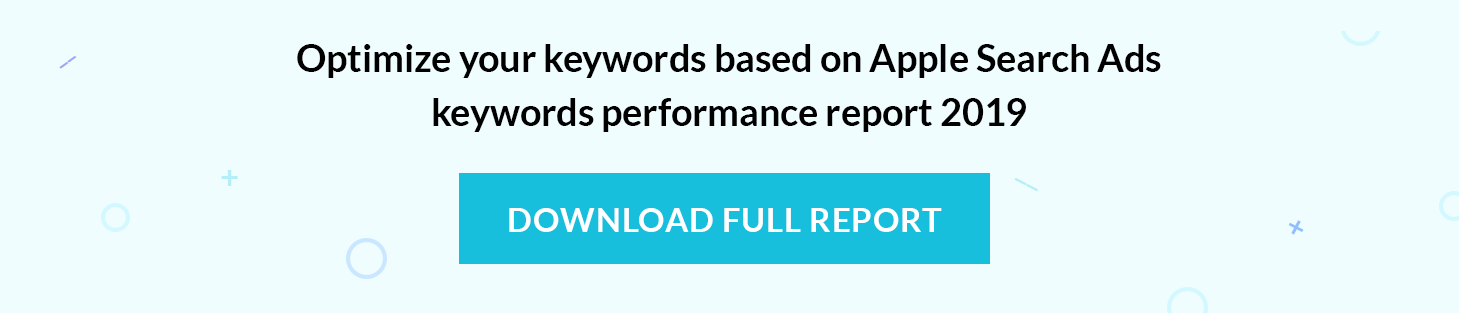 Get Apple Search Ads keywords performance report