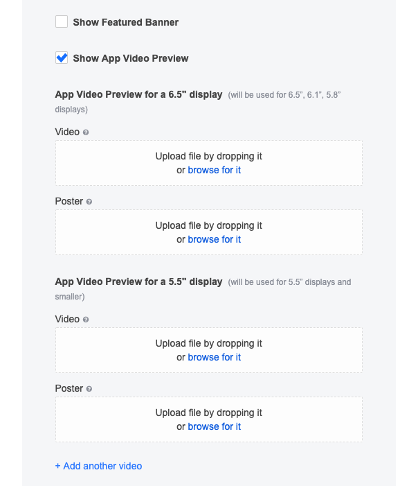 video and preview settings