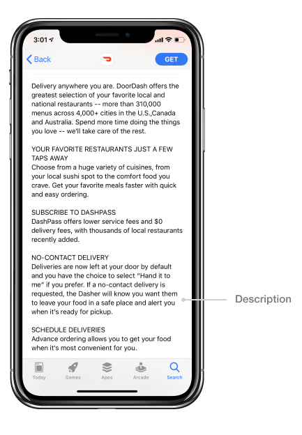 App Store description_DoorDash