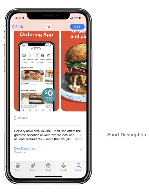 App Store short description_DoorDash