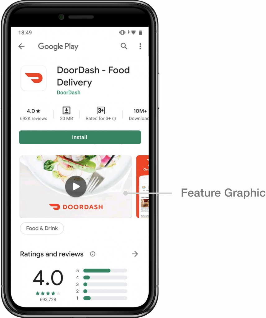 Google Play Store feature graphic_DoorDash